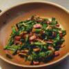 菜の花とベーコン炒め