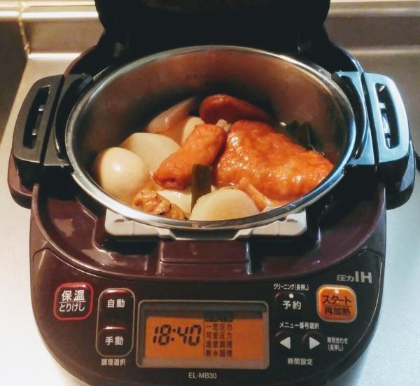 電気圧力鍋で簡単おでん