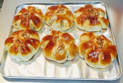 トースターでくるみパン