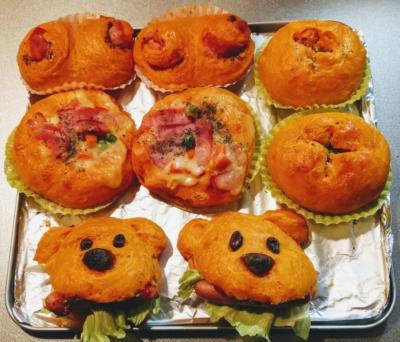 トースターでトマトジュースパン4種類