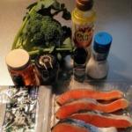 鮭とブロッコリーの蜂蜜マスタードの材料