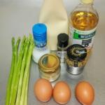 アスパラとゆで卵サラダの材料