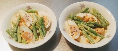 アスパラとゆで卵サラダ