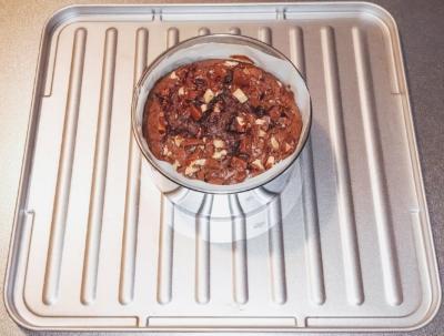 トースターでミルクココアチョコケーキ焼き立て