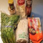 春菊とえのきの味噌炒めの材料