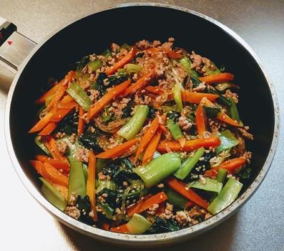 小松菜のチャプチェ