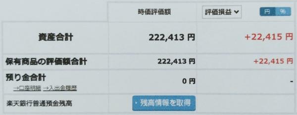 2021-02-13楽天証券【つみたてNISA】ファンド合計時価評価額
