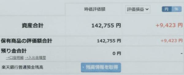 2021-01-02楽天証券【つみたてNISA】ファンド合計時価評価額