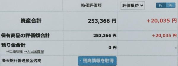 2021-03-06楽天証券【つみたてNISA】ファンド合計時価評価額