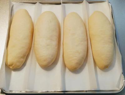 トースターでホットドッグ・コッペパンの生地