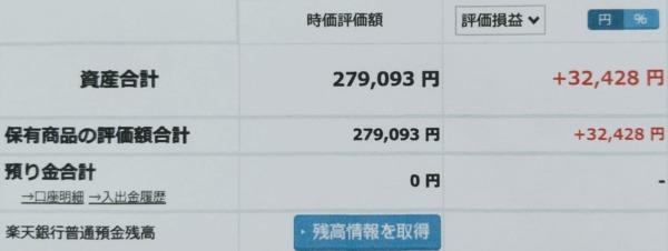 2021-06-13楽天証券【つみたてNISA】ファンド合計時価評価額