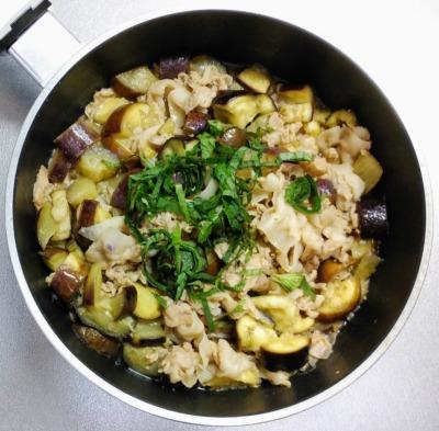豚と茄子の梅つゆ煮